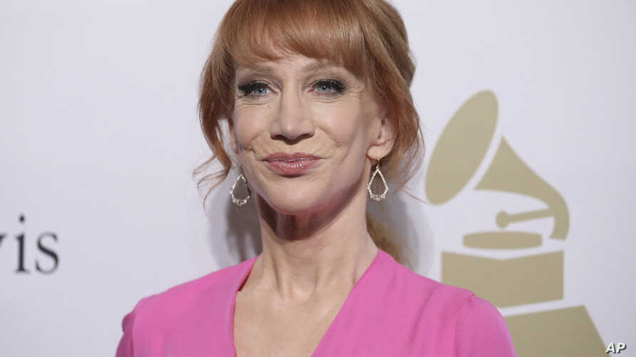 FILE - Kathy Griffin attends the Clive Davis and The Recording Academy Pre-Grammy Gala at The Beverly Hilton Hotel.