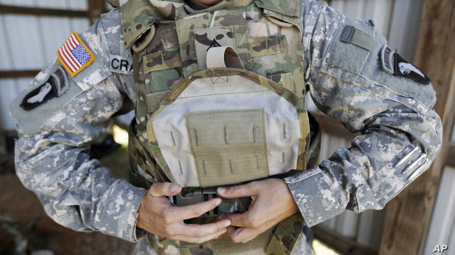 Body armor was among the items stolen at Fort Campbell, Kentucky. Six soldiers and two civilians were indicted on charges of stealing and selling military equipment to foreign buyers.