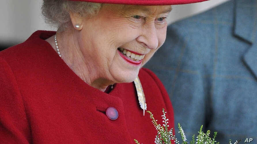 Queen Elizabeth II at the Highland Games during the 2015 Braemar Gathering, Sept. 5, 2015.