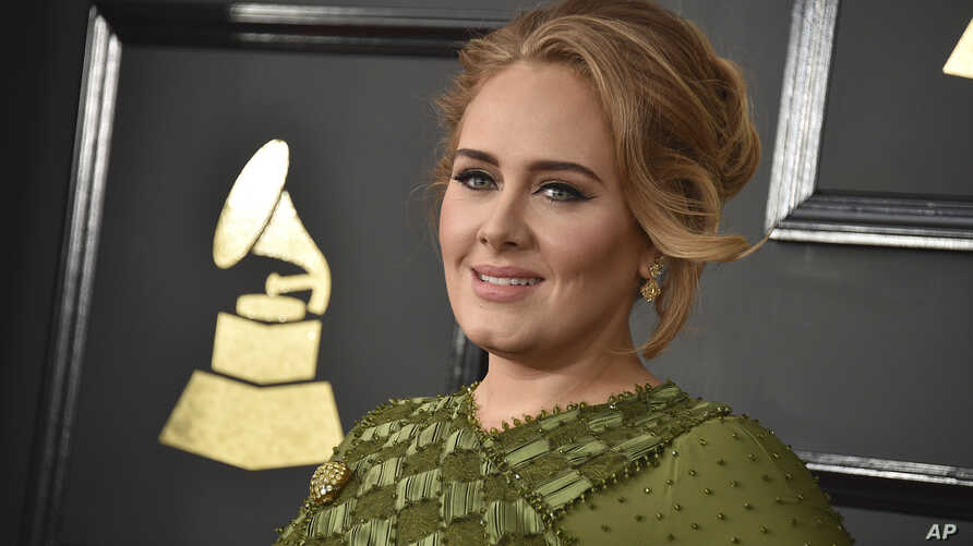 Adele arrives at the 59th annual Grammy Awards at the Staples Center on Feb. 12, 2017, in Los Angeles.