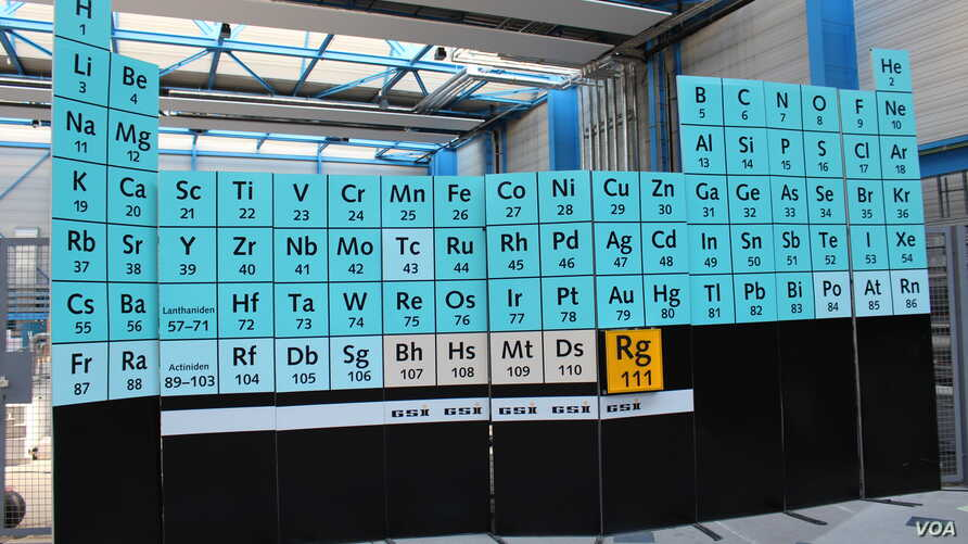 Four new elements have been added to the periodic table.