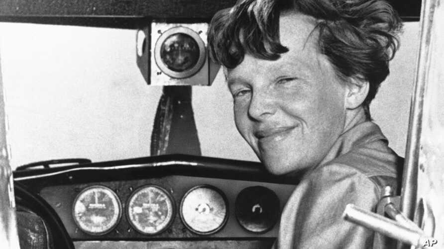 Amelia Earhart poses in this undated photo.
