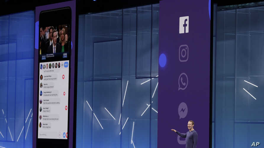 Facebook CEO Mark Zuckerberg makes the keynote address at F8, Facebook's developer conference, May 1, 2018, in San Jose, Calif.