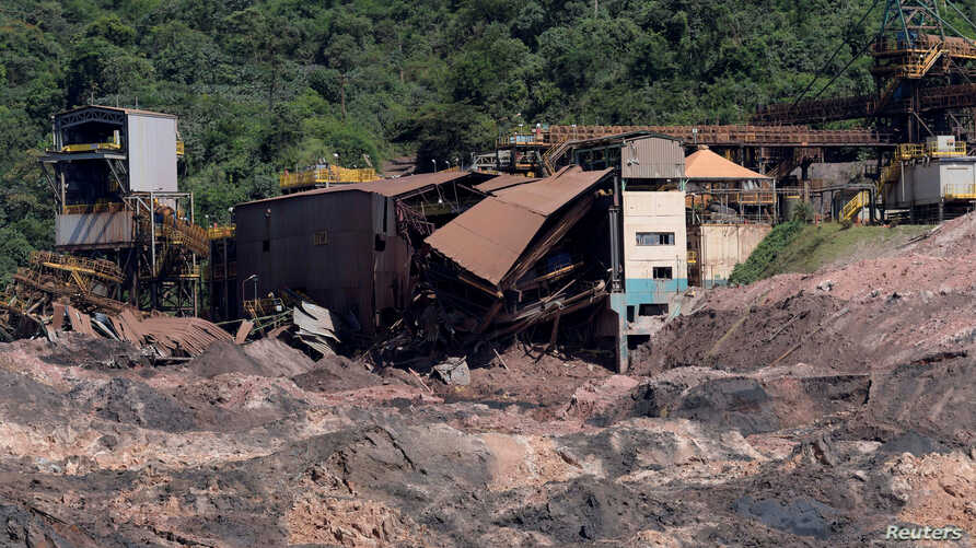 FILE PHOTO: A view of a collapsed tailings dam owned by Brazilian mining company Vale SA, in Brumadinho, Brazil, Feb.10, 2019.