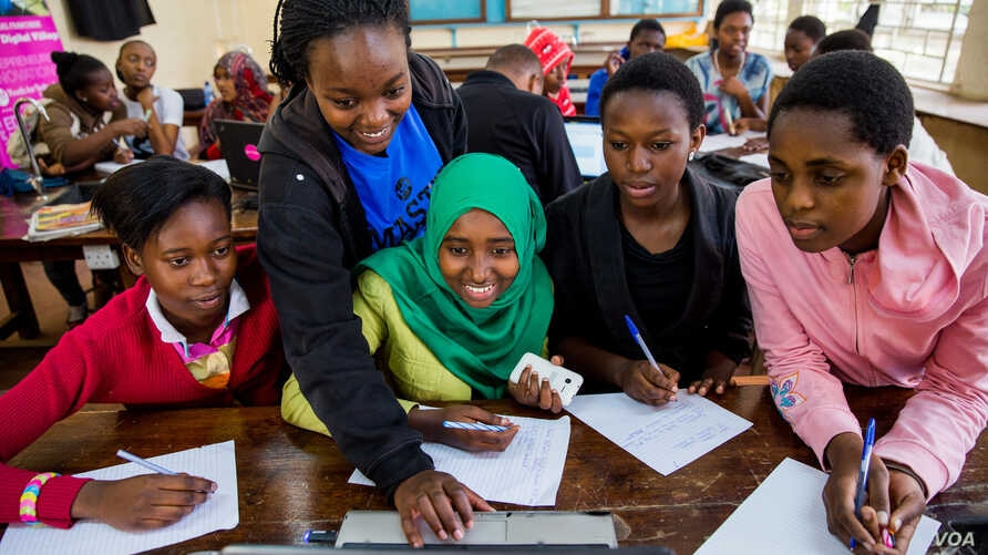Students participate in a class at the Youth for Technology Foundation academy in Nairobi, Kenya. (Youth for Technology Foundation)