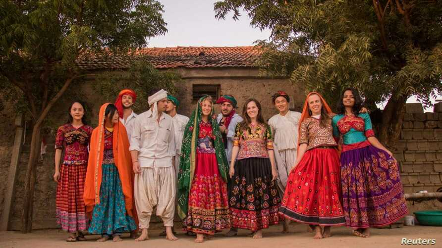 Guests at a homestay in India's Gujarat state, where a partnership between Airbnb and local women's organization SEWA is opening up rural homes to guests from across the world.