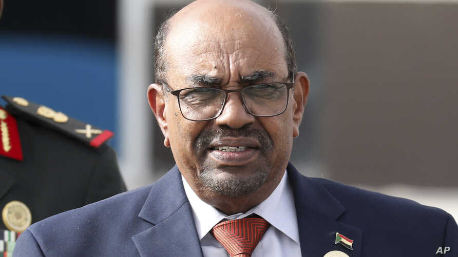 FILE - Sudanese President Omar al-Bashir is seen leaving the African Union summit, in Nouakchott, Mauritania, July 2, 2018.