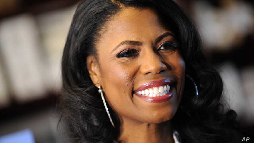 FILE - Omarosa Manigault Newman at a promotional event for 'The Apprentice' in New York City.