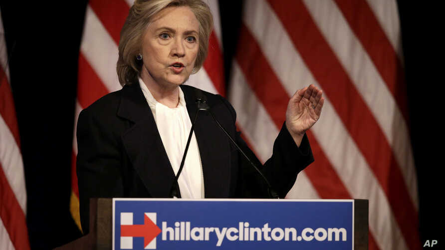 Democratic presidential candidate Hillary Clinton speaks at a campaign event in New York, July 13, 2015.