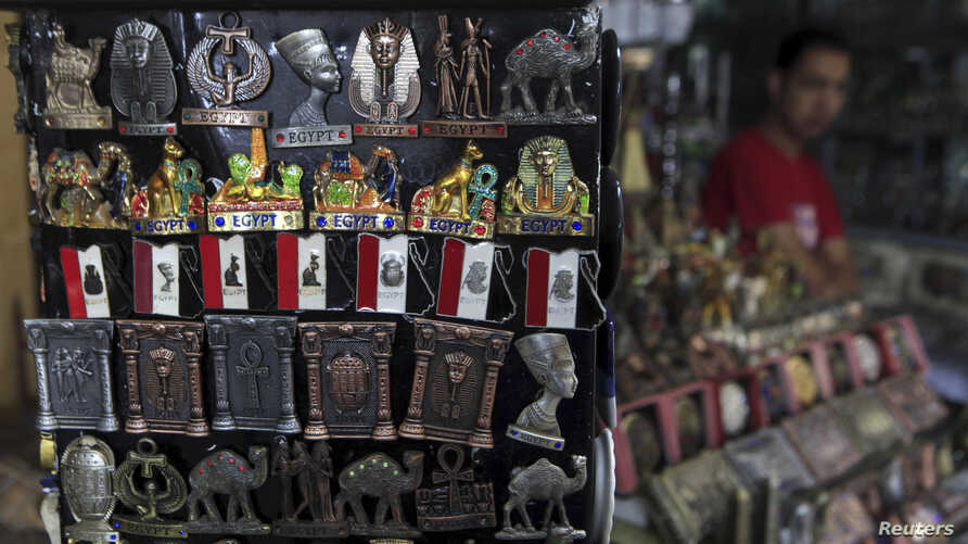 A shopkeeper waits for tourists at a souvenir shop in old Cairo Oct. 29, 2013.
