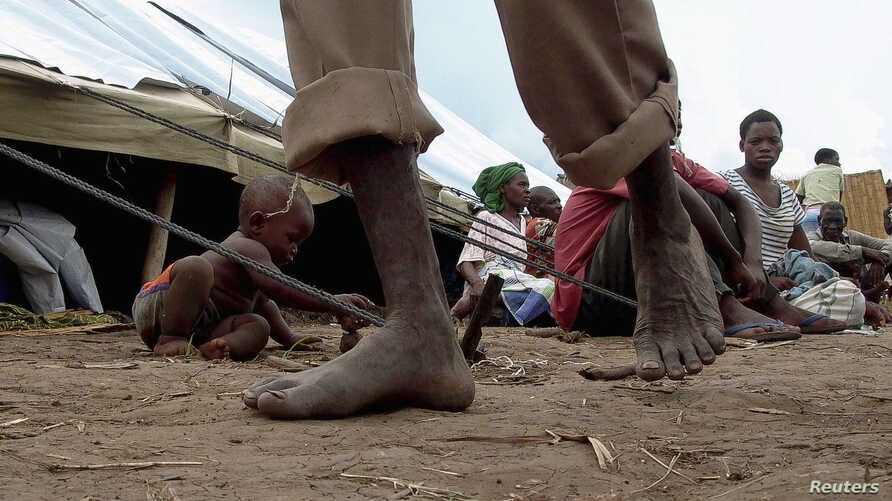 Refugees are seen at a Malawian camp (file photo).