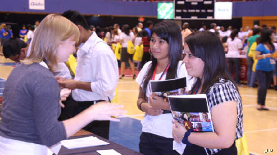 Latino students attend an Hispanic College Fund event aimed at providing them with the tools they need to get into college and obtain the financial aid they might require.