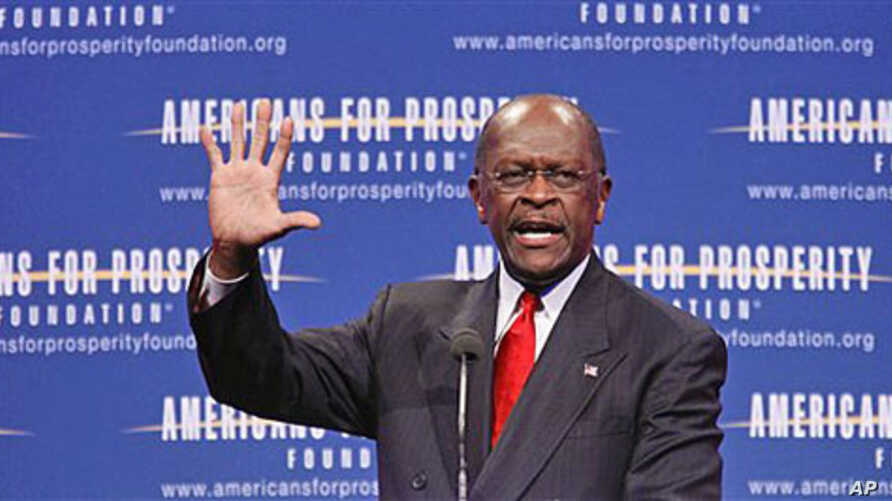 Republican presidential candidate Herman Cain speaks at the Defending the American Dream Summit in Washington, November 4, 2011.