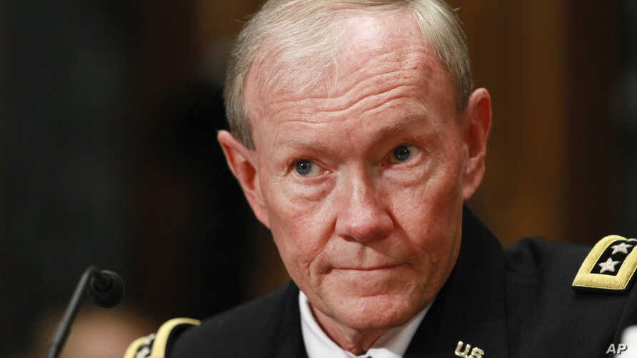 Joint Chefs Chairman Gen. Martin Dempsey testifies on Capitol Hill in Washington before the Senate Defense subcommittee hearing on the the Defense Department's fiscal 2013 budget.