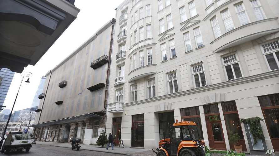FILE - A photo shows Prozna Street, in the heart of what was Warsaw's Jewish quarter before World War II, in Warsaw, Poland, Dec. 5, 2016.
