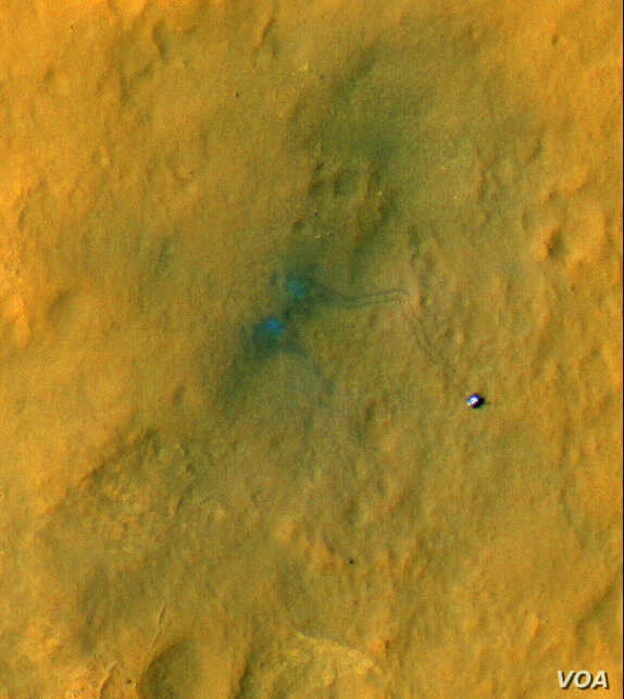 Picture of rover track marks