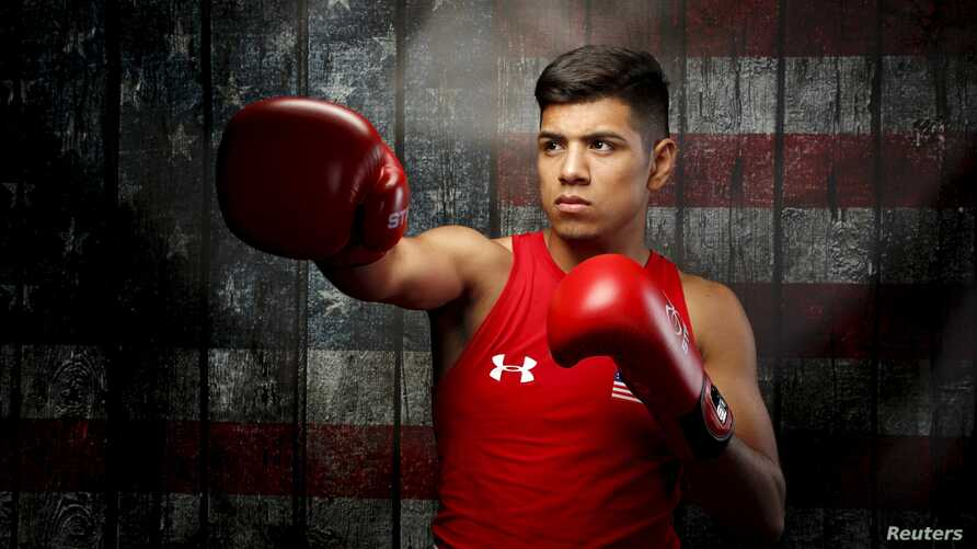 BoxeFILE - Carlos Balderas poses for a portrait at the U.S. Olympic Committee Media Summit in Beverly Hills, Los Angeles, California, March 9, 2016.