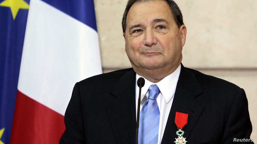 FILE - Abraham Foxman, national director of the Anti-Defamation League, a U.S. group that fights racism and anti-Semitism, delivers his speech after he was awarded with the medal of Knight in the Legion of Honor order by French President Jacques Chir