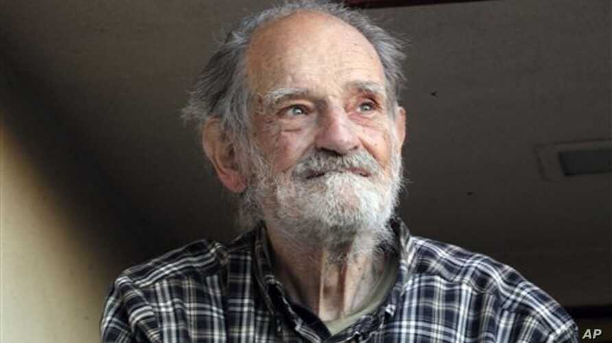 Lloyd Shapley, one of two Americans who were awarded the Nobel economics prize, is photographed at his home in the Pacific Palisades area of Los Angeles Monday, Oct. 15, 2012. Shapley, 89, and Alvin Roth were awarded the Nobel economics prize on Mond