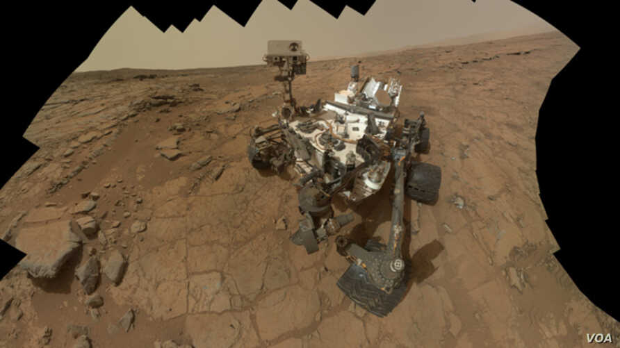 This self-portrait of NASA's Mars rover Curiosity combines 66 exposures taken by the rover's Mars Hand Lens Imager (MAHLI) during the 177th Martian day, or sol, of Curiosity's work on Mars (Feb. 3, 2013).
