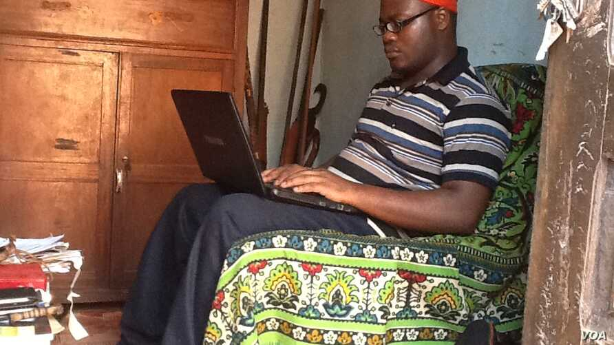 Although a ruler must stay in his village, King Kevin is studying public administration in Yaounde. (Photo by Eugene Nforngwa)