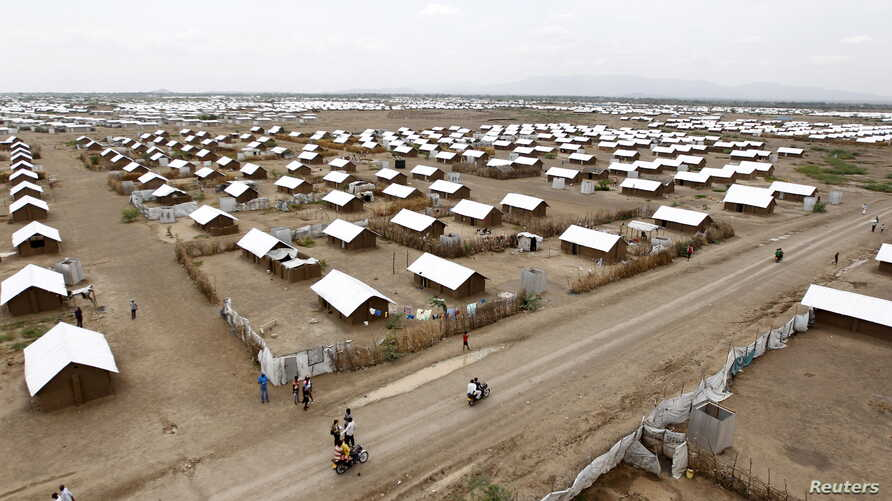 An aerial view shows recently constructed houses at the Kakuma refugee camp in Turkana District, northwest of Kenya's capital Nairobi, June 20, 2015. Conditions at Kenya's Kalobeyei refugee complex have improved after residents complained.