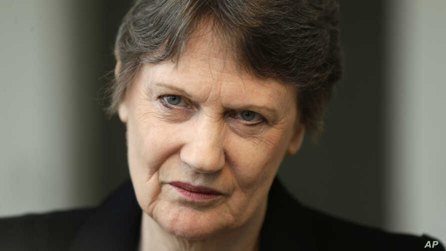 Helen Clark, the former Prime Minister of New Zealand and senior United Nations official, speaks during an interview in New York, Monday, April 4, 2016.