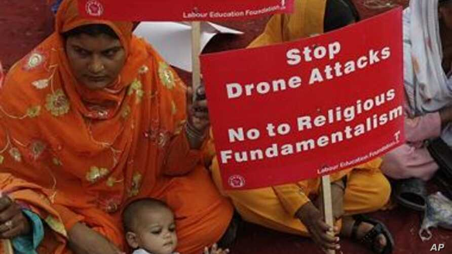 Supporters of Pakistan's Labour Education rally to condemn U. S. drone attacks on Taliban and al-Qaida hide outs in Pakistani tribal area of Waziristan along the Afghanistan border, in Lahore, Pakistan (File Photo)
