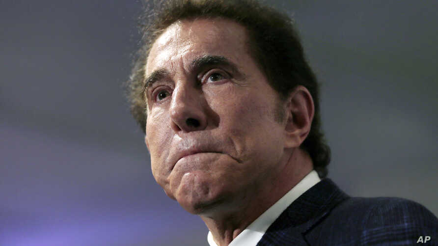 FILE - This March 15, 2016, file photo, shows casino mogul Steve Wynn at a news conference in Medford, Massachusetts. Wynn Resorts is denying multiple allegations of sexual harassment and assault by its founder Steve Wynn.