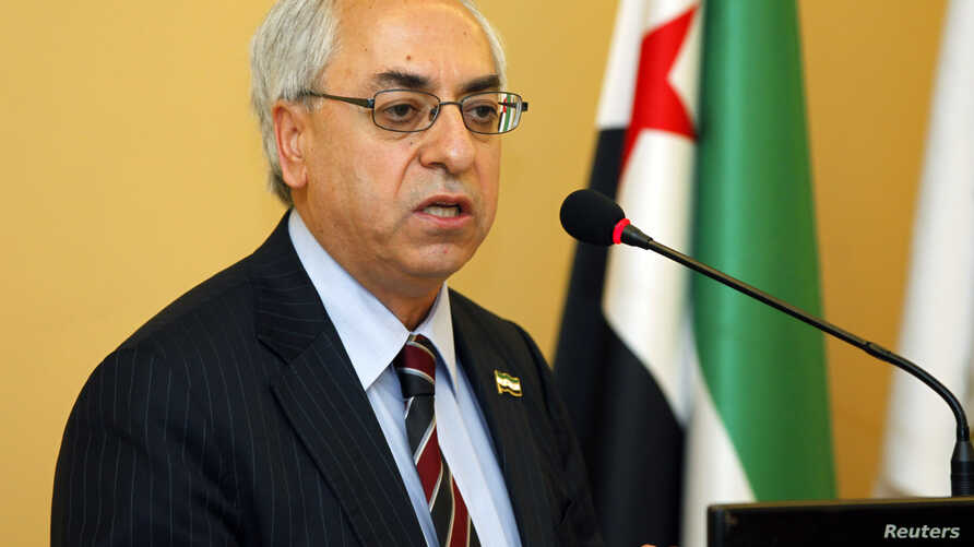 The new president of the Syrian National Council, Abdelbasset Sieda, speaks during a news conference in Istanbul, Turkey, June 10, 2012.