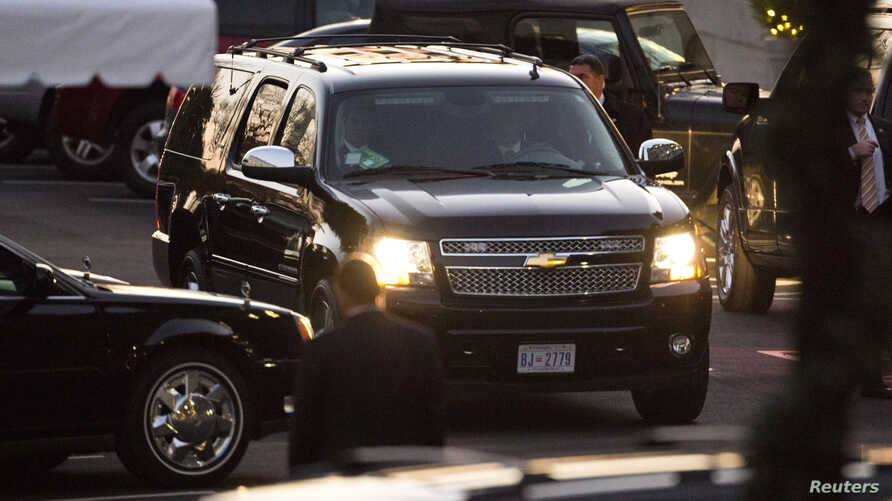 Congressional vehicles are seen arriving at the White House (file photo).