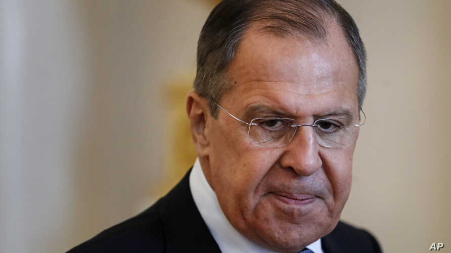 Russian Foreign Minister Lavrov in Moscow, Russia.
