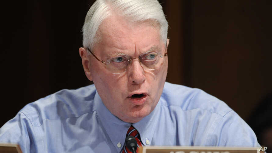 FILE - Sen. Jim Bunning, R-Ky., speaks during a committee meeting on Capitol Hill in Washington, Sept. 22, 2009.