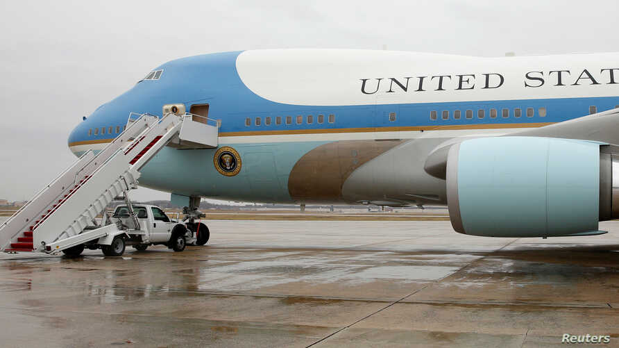 FILE - Air Force One sits ready for boarding on the tarmac at Joint Base Andrews in Maryland U.S. December 6, 2016.