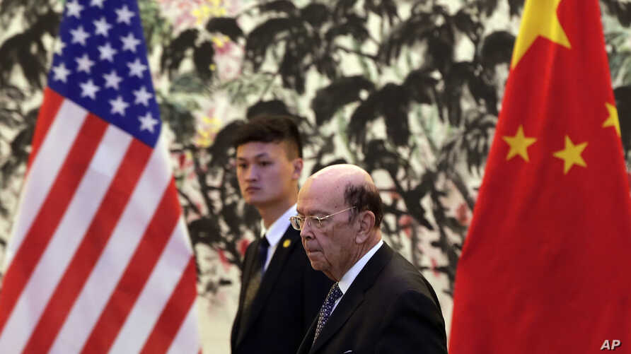 U.S. Commerce Secretary Wilbur Ross arrives to the Diaoyutai State Guesthouse to attend a meeting with Chinese Vice Premier Liu He in Beijing, June 3, 2018. U.S. Commerce Secretary Ross is in Beijing for talks on China's promise to buy more American