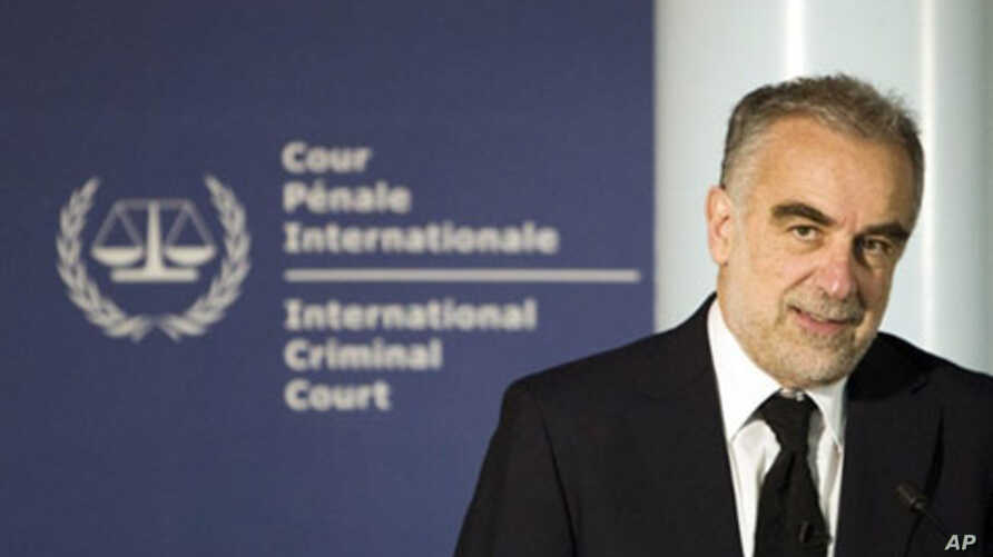 International Criminal Court (ICC) prosecutor Luis Moreno-Ocampo gives a press conference, 01 Apr 2010, in The Hague on a probe the ICC will carry out into crimes against humanity allegedly committed in the violent aftermath of Kenya's December 2007