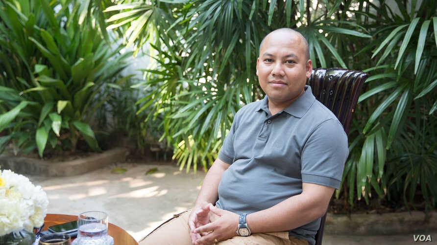 Cambodian Ambassador to South Korea Long Dimanche sits in his house after an exclusive interview with VOA on March 13th, 2016.