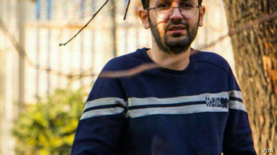 Undated photo of Iranian journalist Amir Hossein Miresmaili, whose satirical April 2018 tweet, mentioning one of the 12 historical imams revered in Shiite Islam, led a Tehran court to sentence him to 10 years in prison.