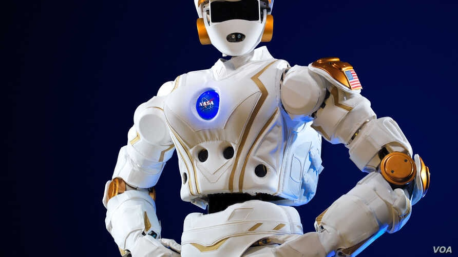 NASA's R5 robot, which is NASA's newest humanoid robot and was built to compete in the DARPA Robotics Challenge.
