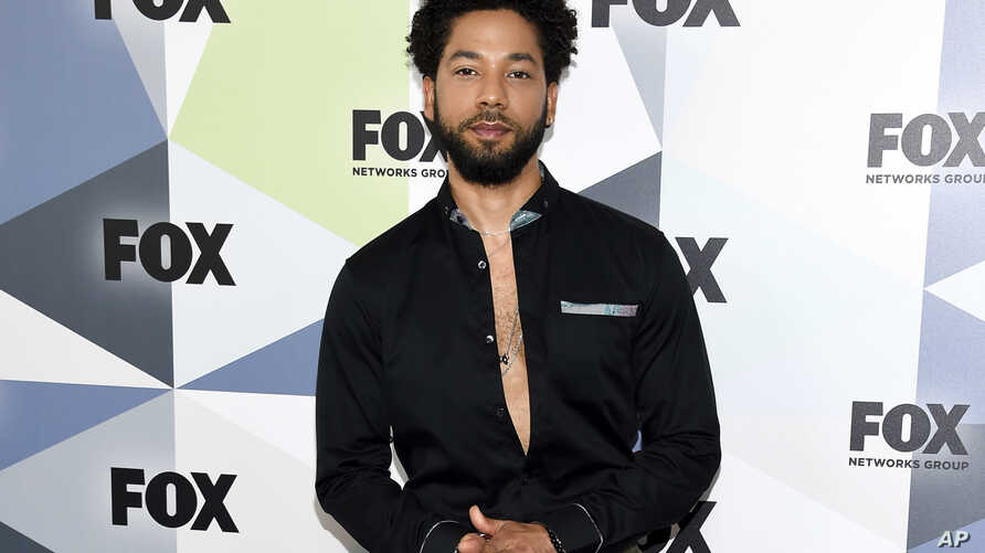 FILE - Actor and singer Jussie Smollett attends the Fox Networks Group 2018 programming presentation after party at Wollman Rink in Central Park on May 14, 2018, in New York.