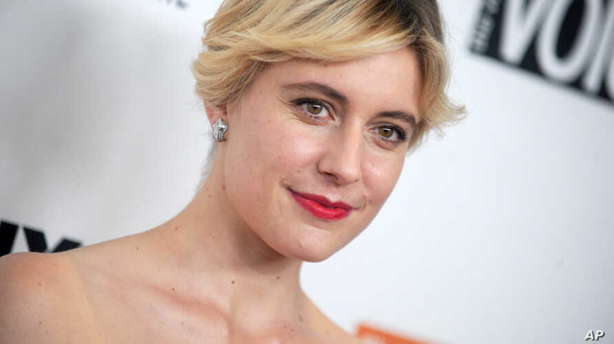 "FILE - Greta Gerwig, director of ""Lady Bird,"" attends the 55th New York Film Festival in New York City."