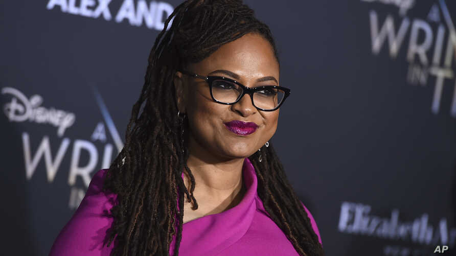 """Ava DuVernay arrives at the world premiere of """"A Wrinkle in Time"""" at the El Capitan Theatre in Los Angeles, Feb. 26, 2018."""
