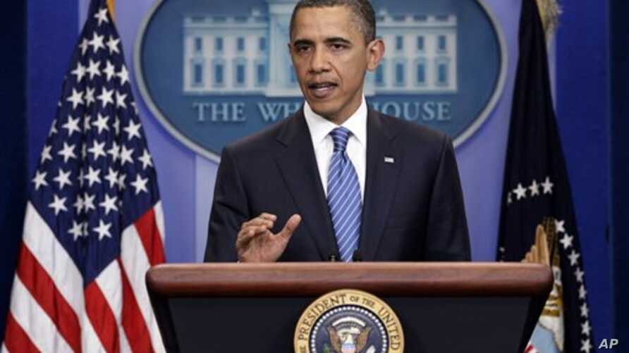 President Obama speaks at the White House, April 7, 2011 on the budget negotiations