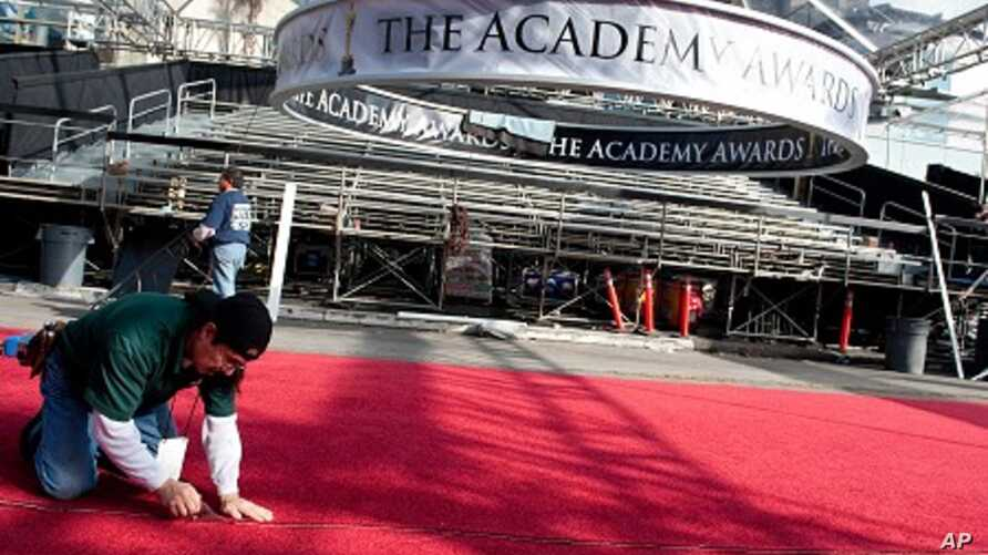 The Red Carpet for the 83rd Academy Awards is rolled out on Hollywood Blvd  outside the Hollywood and Highland Center in Hollywood, California, February 23, 2011