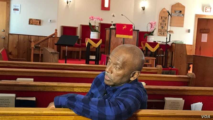 Harvey Matthews, 73, talks about growing up on a family farm outside Washington in an area now known as the Westbard neighborhood of Bethesda, Maryland. The community activist is interviewed in the Macedonia Baptist Church.