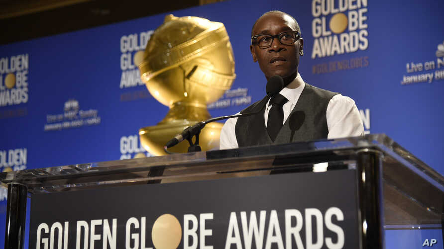 Don Cheadle announces nominations for the 74th annual Golden Globe Awards at the Beverly Hilton hotel on Dec. 12, 2016, in Beverly Hills, Calif.