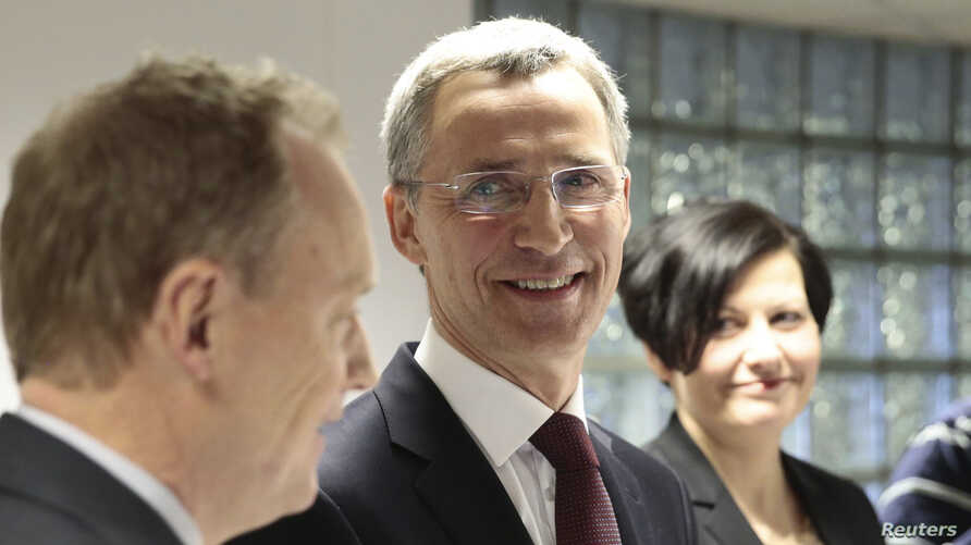 Former Norwegian prime minister Jens Stoltenberg addresses the media in Oslo, after NATO ambassadors chose him to be the next head, March 28, 2014.