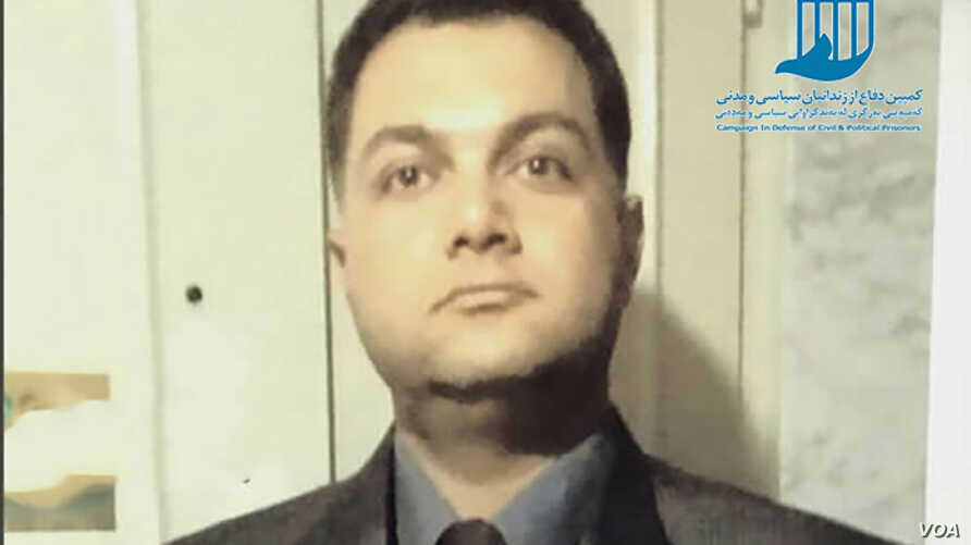 Undated photo of Behfar Lalezari, an Iranian dissident jailed in October 2017 for five years for insulting Islam and Iran's Islamist leadership through his social media postings.
