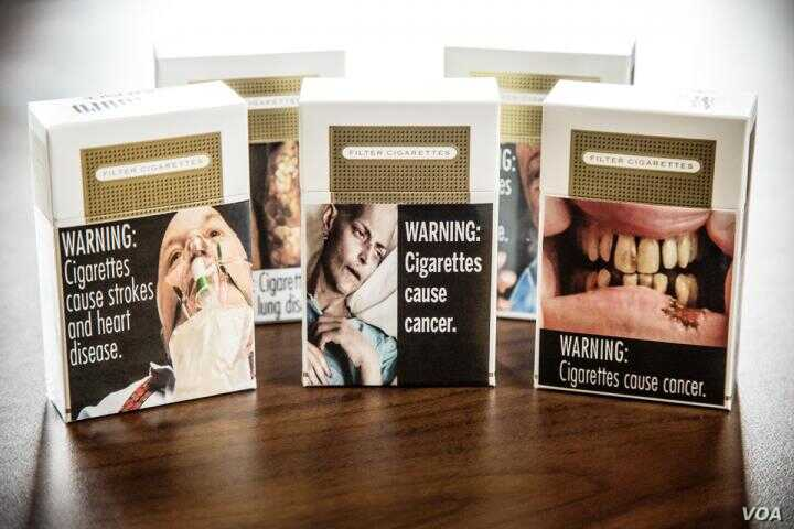 Graphic warning labels on cigarette packages, like these approved for use in the US, may not have the desired effect, according to a University of Illinois study.( L. Brian Stauffer)