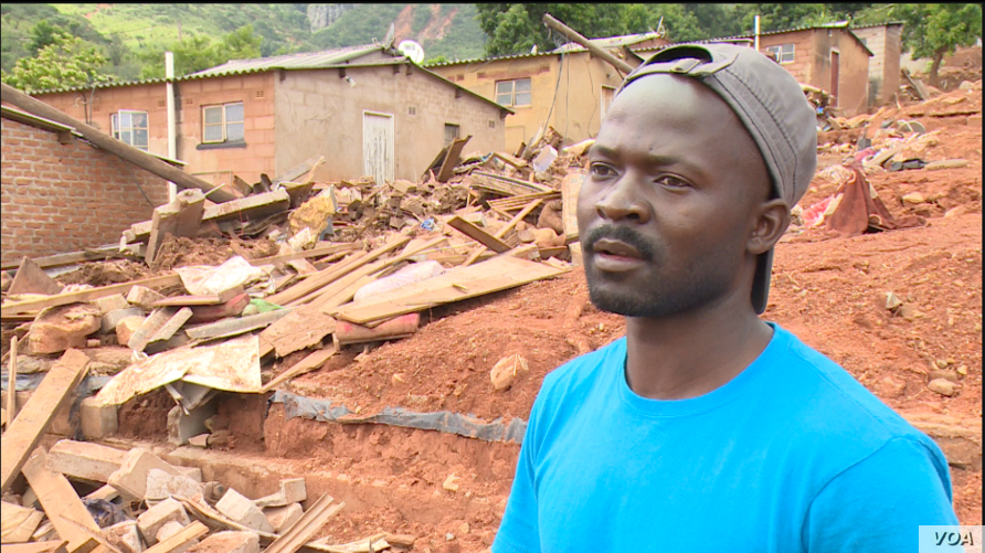 Wonder Tom in Chimanimani district lost his 82-year-old grandmother when Cyclone Idai hit the area March 16. He hopes the sniffer dogs from South African police will help those who lost their relatives find their remains so they can give her a proper